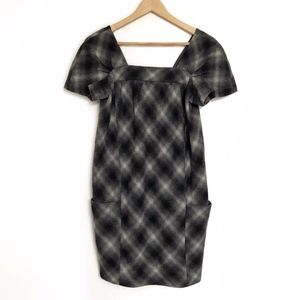 Vince Wool Shift Dress with Pockets - 4
